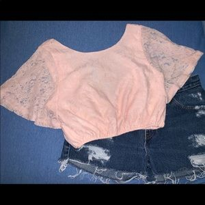 Urban outfitters pins & needles lace crop top